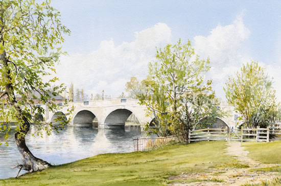 Riverside At Chertsey - Chertsey Bridge Surrey