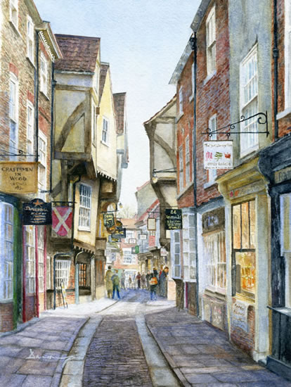 Art Gallery: The Shambles York - Fine Art Prints of Painting by Woking  Surrey Artist David Drury