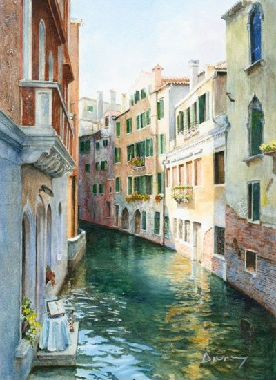 venice reflections in canal prints of painting drury art gallery